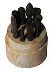 Набор борфрез Р6М5 из 10шт. d(6-10)х(8-28)х6мм (трещины на крышке фуляра упаковки)