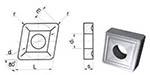 Пластина CNUM - 190612 Т15К6(YT15) ромбическая dвн=8мм (05114) со стружколомом
