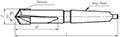 Сверло с коническим хвостовиком d 36,0 Т5К10 для рельсосверлильных машин