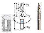 Сверло ступенчатое под резьбу М16 (D18,0 и d14,0) 90° ц/х Р6АМ5